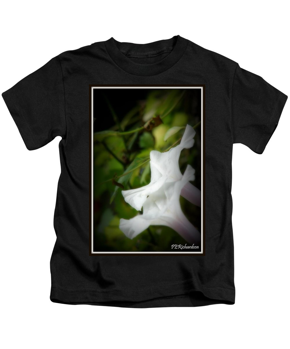 Morning Glories Kids T-Shirt featuring the photograph Gaily by Priscilla Richardson