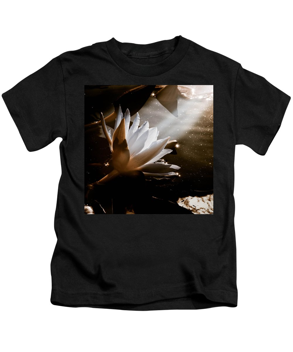 Water Lily Kids T-Shirt featuring the photograph Galactica by Trish Tritz