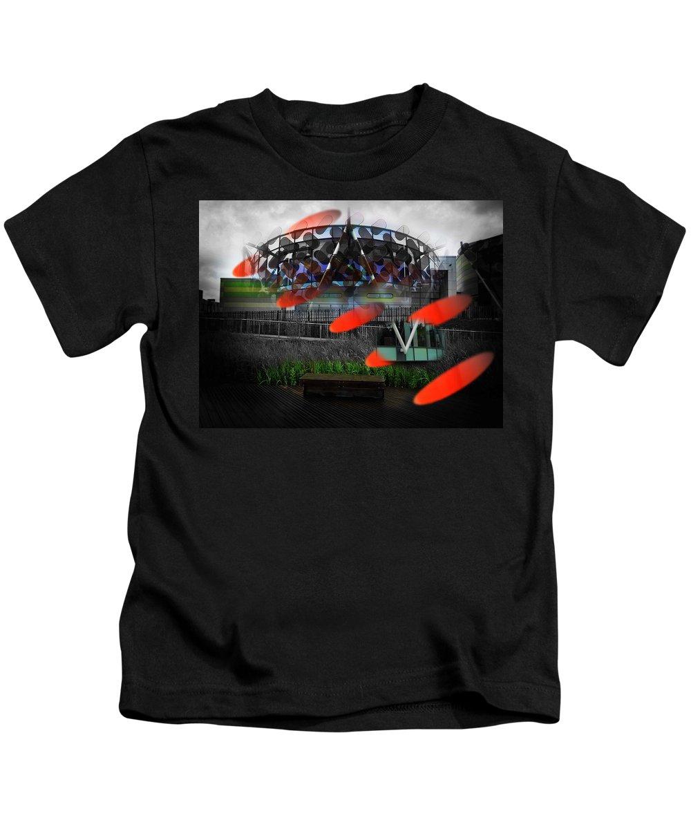 Galactus Kids T-Shirt featuring the photograph Galactus by Charles Stuart