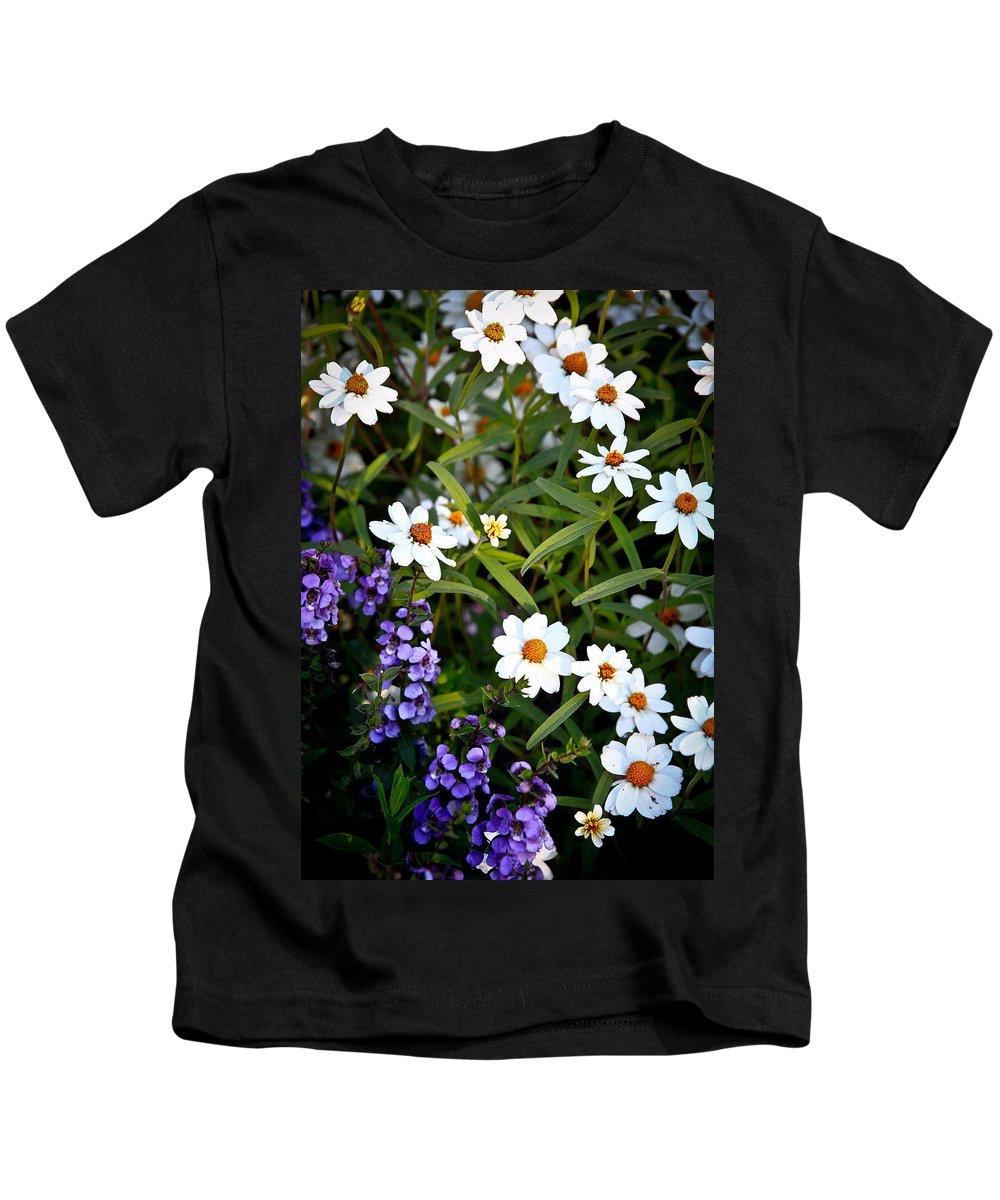 Flowers Kids T-Shirt featuring the photograph Garden Flowers by Steve McKinzie