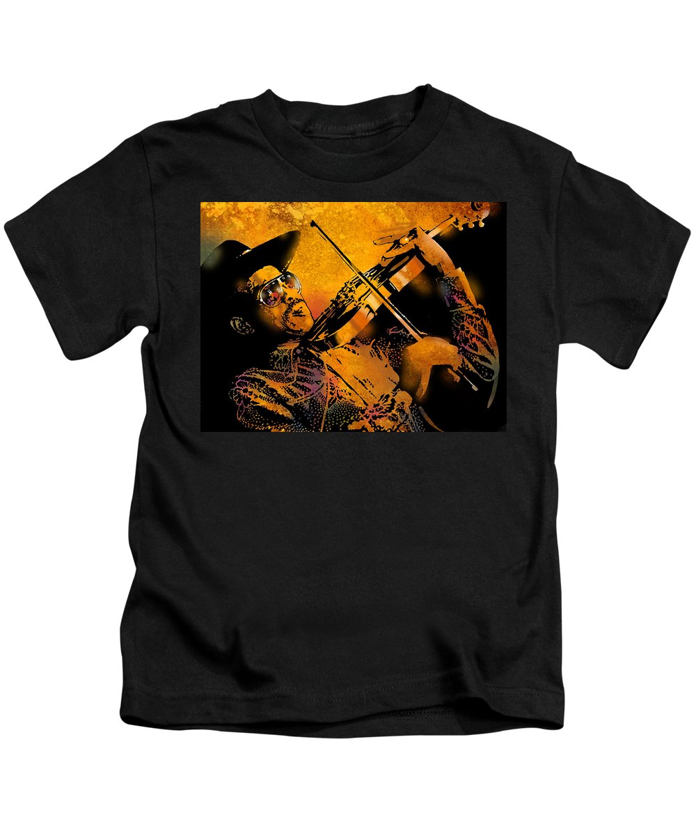 Blues Kids T-Shirt featuring the painting Gatemouth by Paul Sachtleben