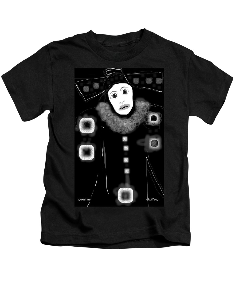 Digital Drawing Kids T-Shirt featuring the photograph Geisha by Doug Duffey