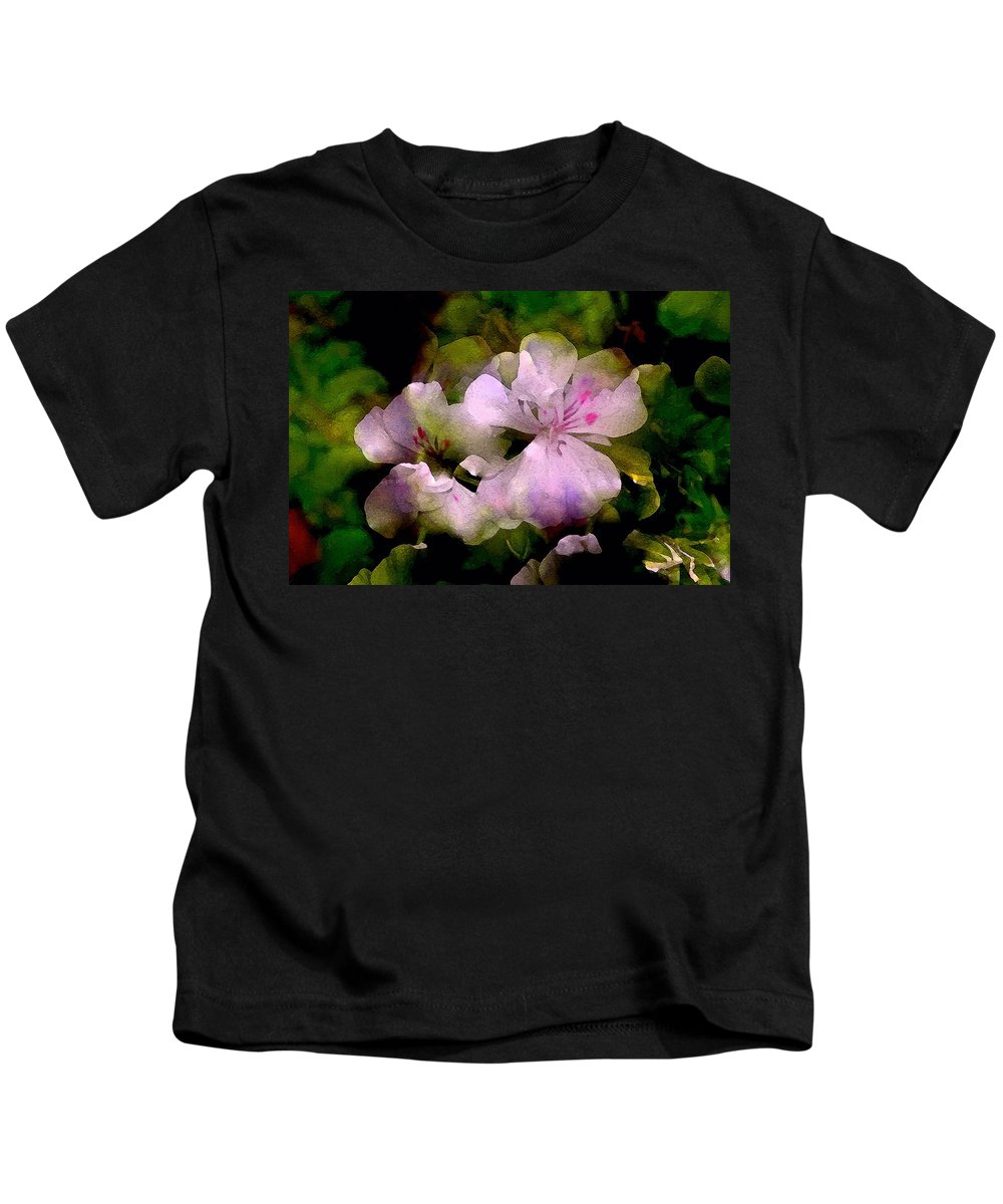 Floral Kids T-Shirt featuring the photograph Geranium 8 by Pamela Cooper