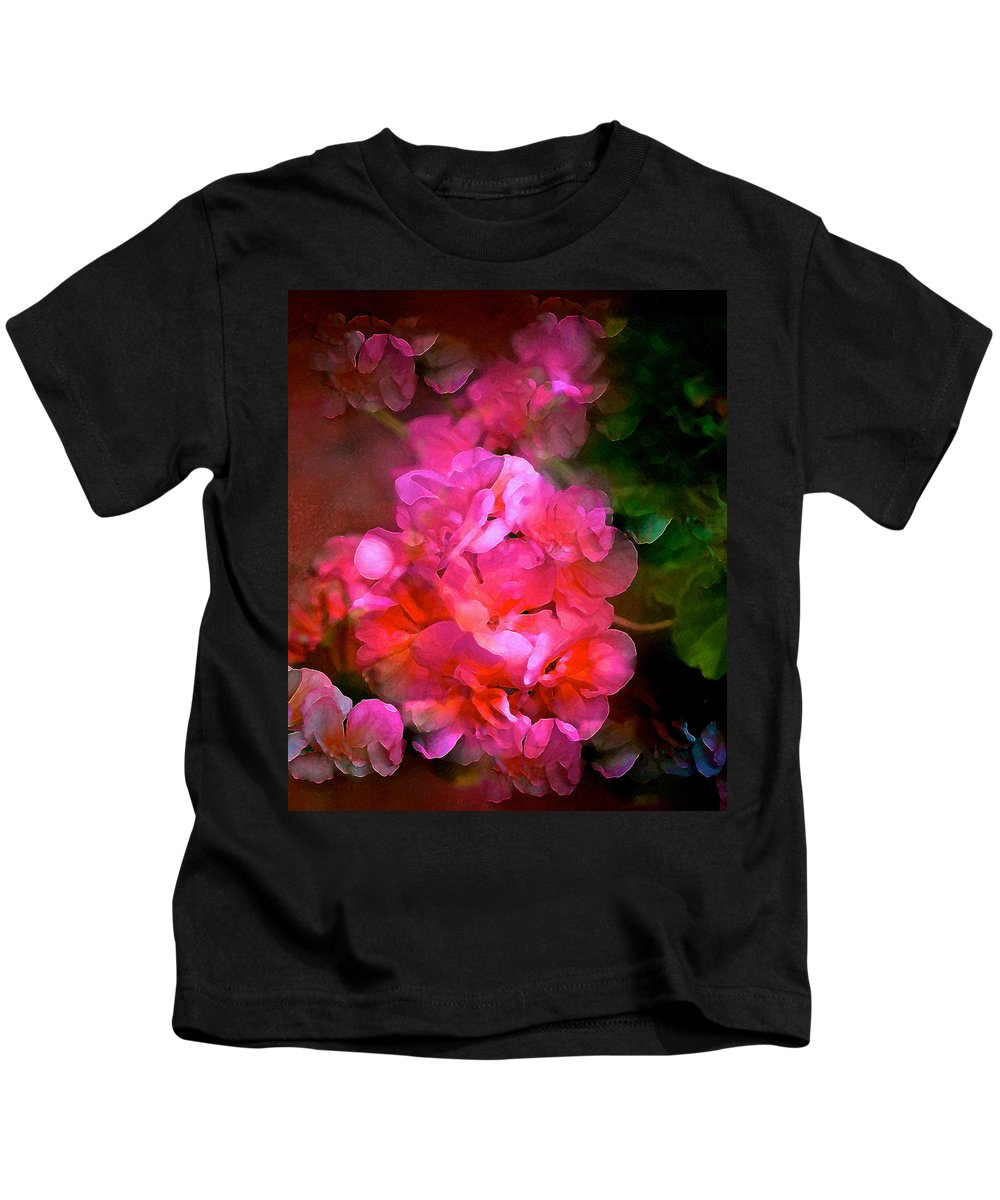Floral Kids T-Shirt featuring the photograph Geranium 9 by Pamela Cooper