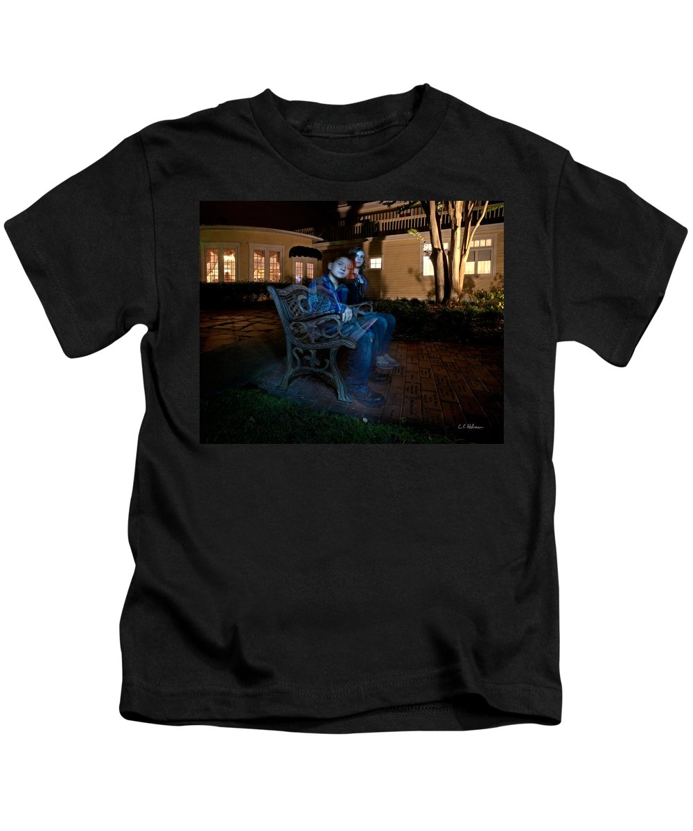 Ghost Kids T-Shirt featuring the photograph Ghostly Cousins by Christopher Holmes