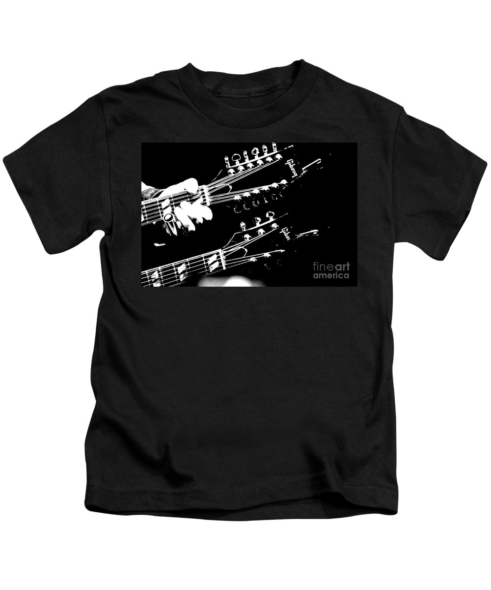 Guitar Kids T-Shirt featuring the photograph Gibson by Traci Cottingham