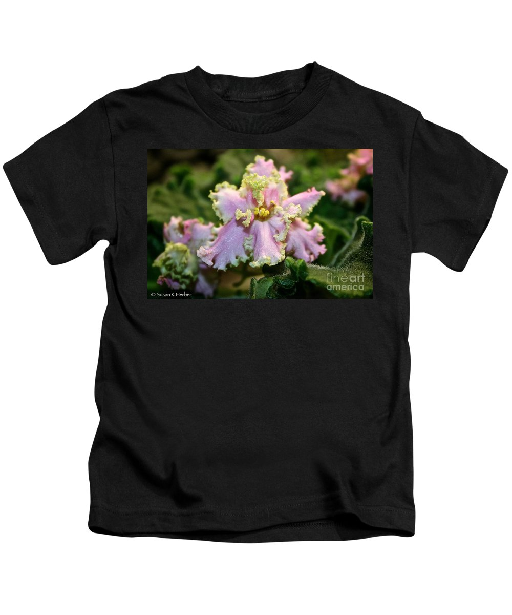 Outdoors Kids T-Shirt featuring the photograph Glamour Blossom by Susan Herber