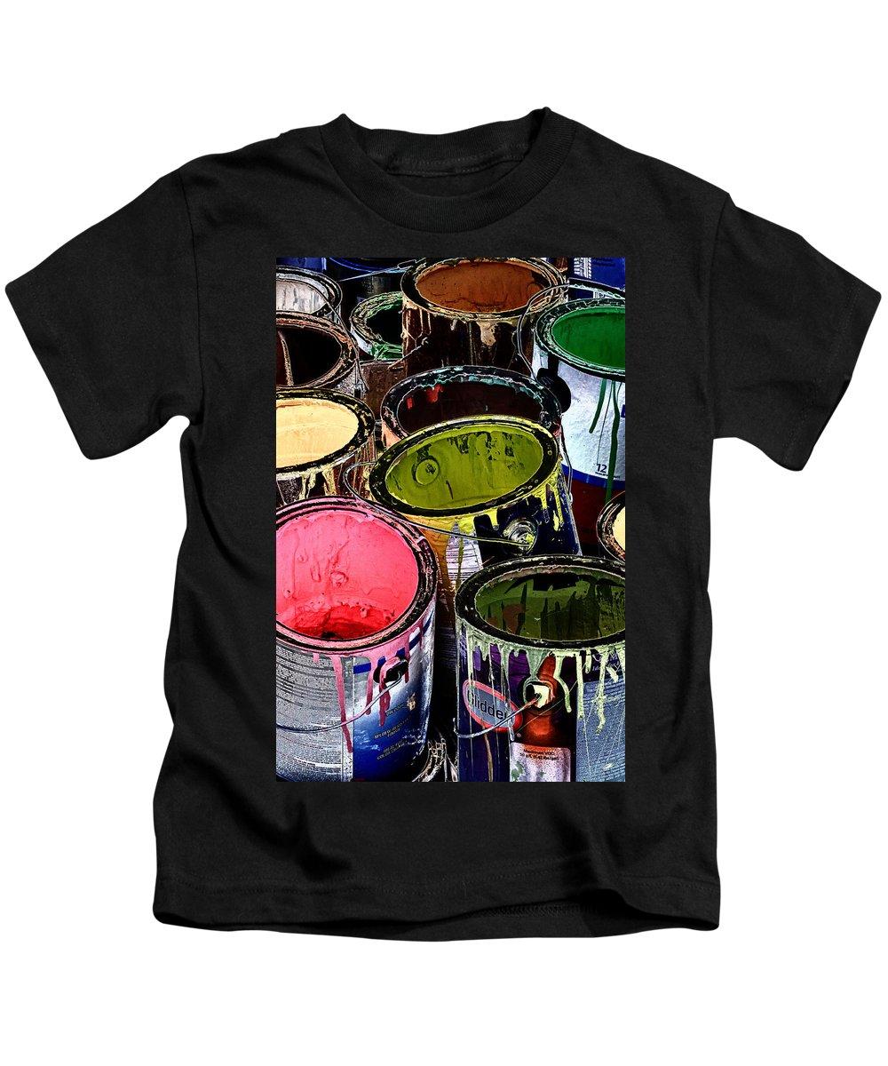 Gladden Paint Kids T-Shirt featuring the photograph Glidden by Linda Dunn