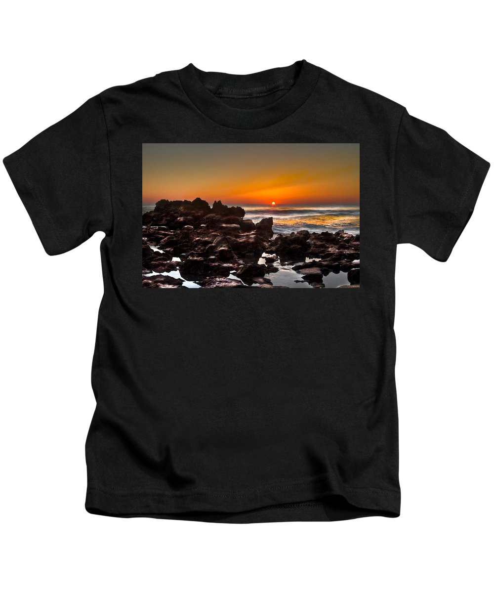 Blowing Rocks Kids T-Shirt featuring the photograph Golden by Debra and Dave Vanderlaan