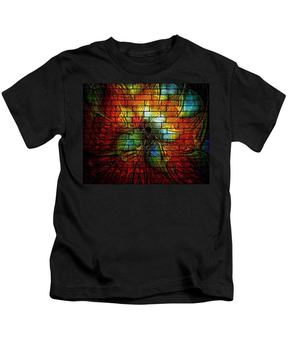 Digital Art Kids T-Shirt featuring the digital art Graffiti by Amanda Moore