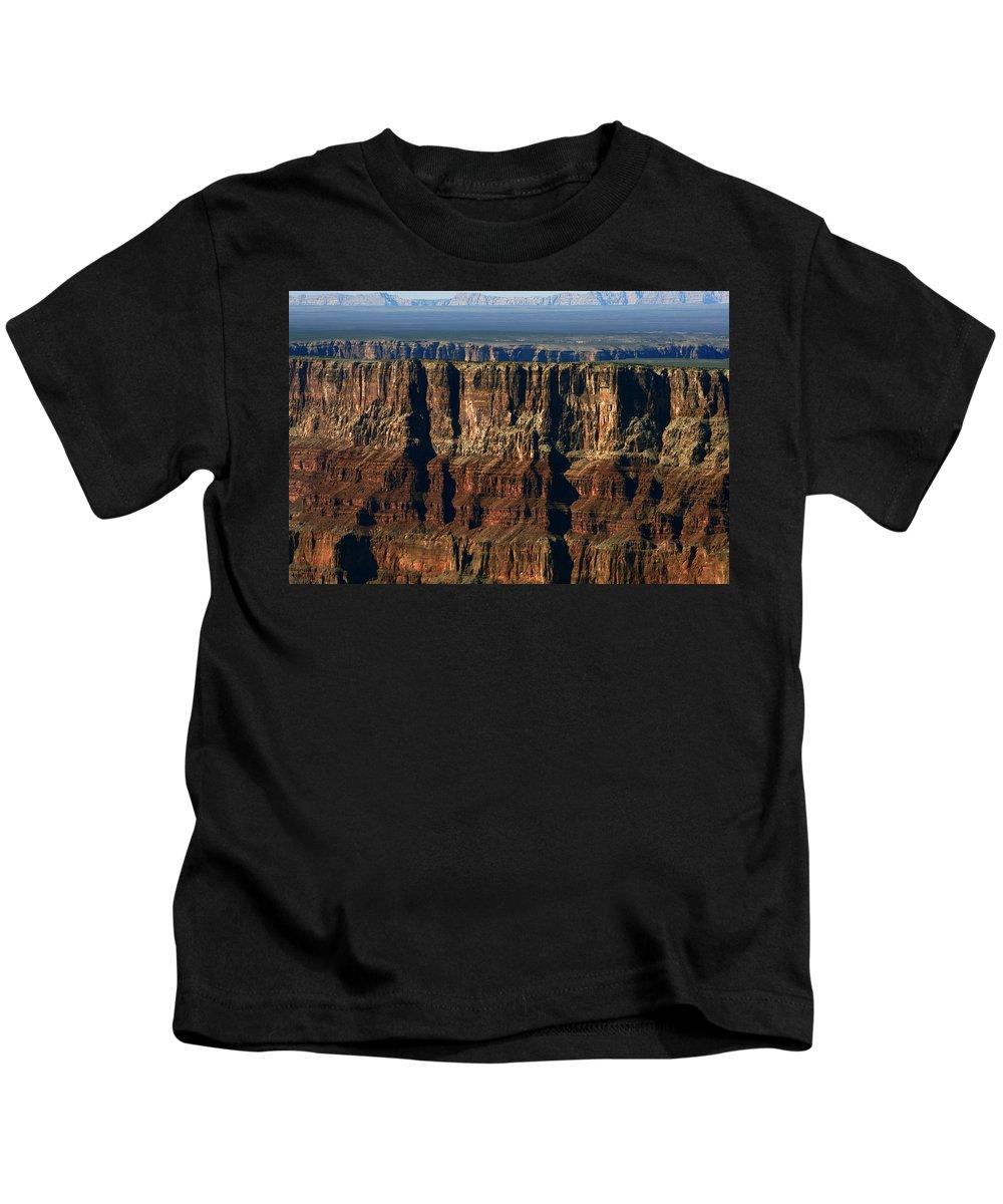 Grand Canyon Kids T-Shirt featuring the photograph Grand Canyon Cliffs IIi by Julie Niemela