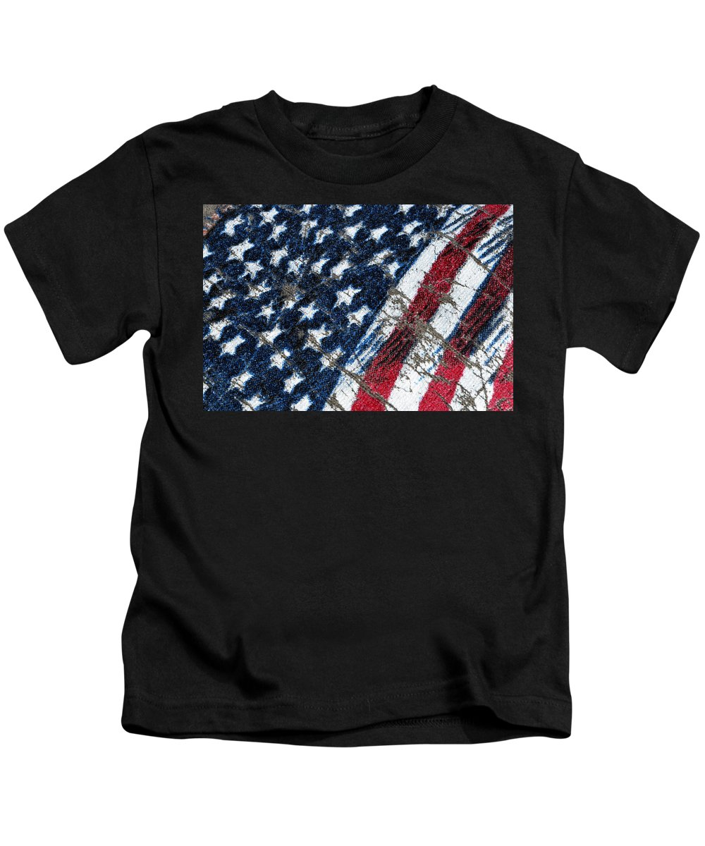 Grand Old Flag Kids T-Shirt featuring the photograph Grand Ol' Flag by Bill Owen