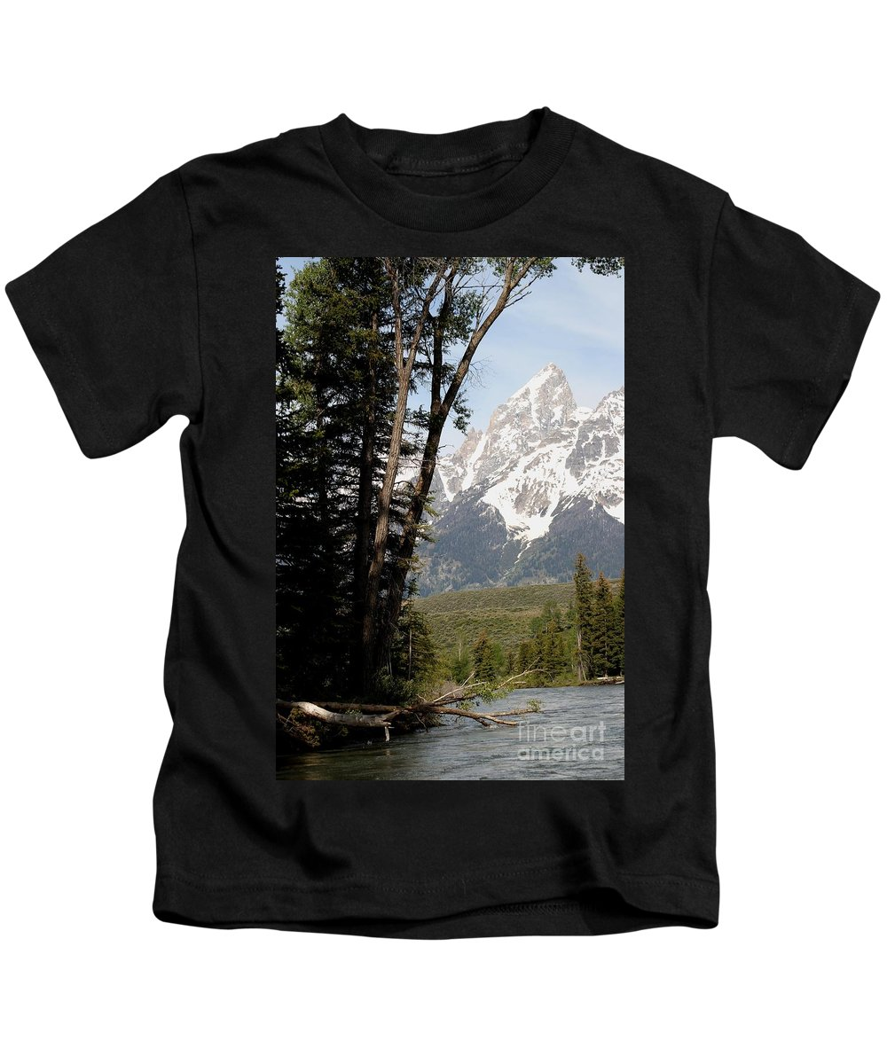 Grand Tetons Kids T-Shirt featuring the photograph Grand Tetons Vertical by Living Color Photography Lorraine Lynch