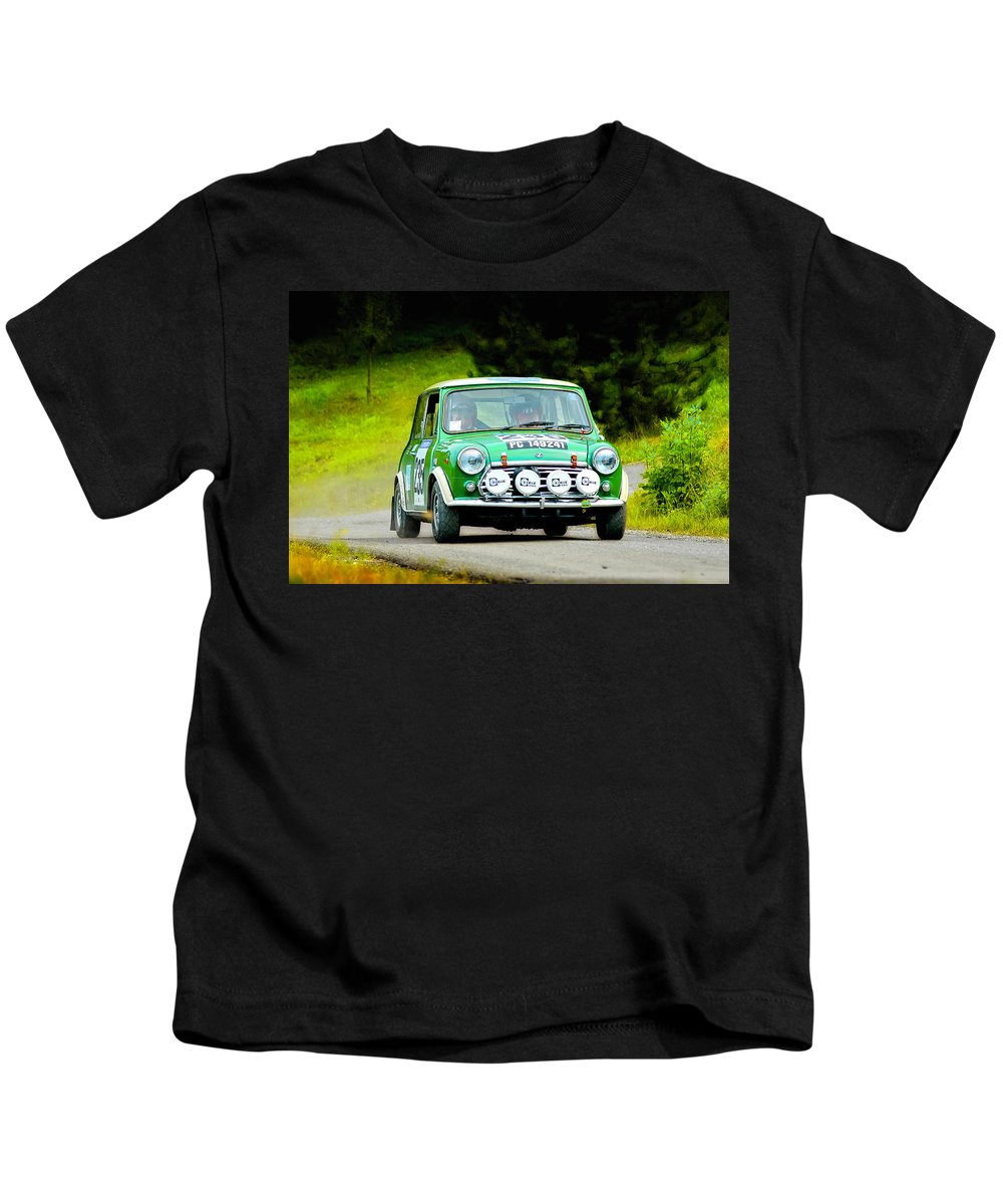 Car Kids T-Shirt featuring the photograph Green Mini Innocenti by Alain De Maximy