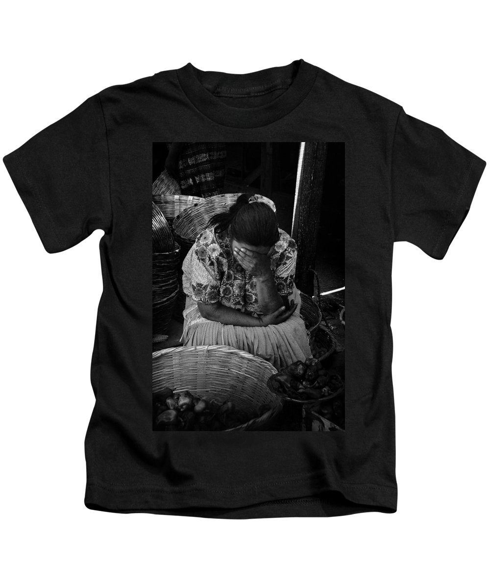 Grief Kids T-Shirt featuring the photograph Grief by Tom Bell