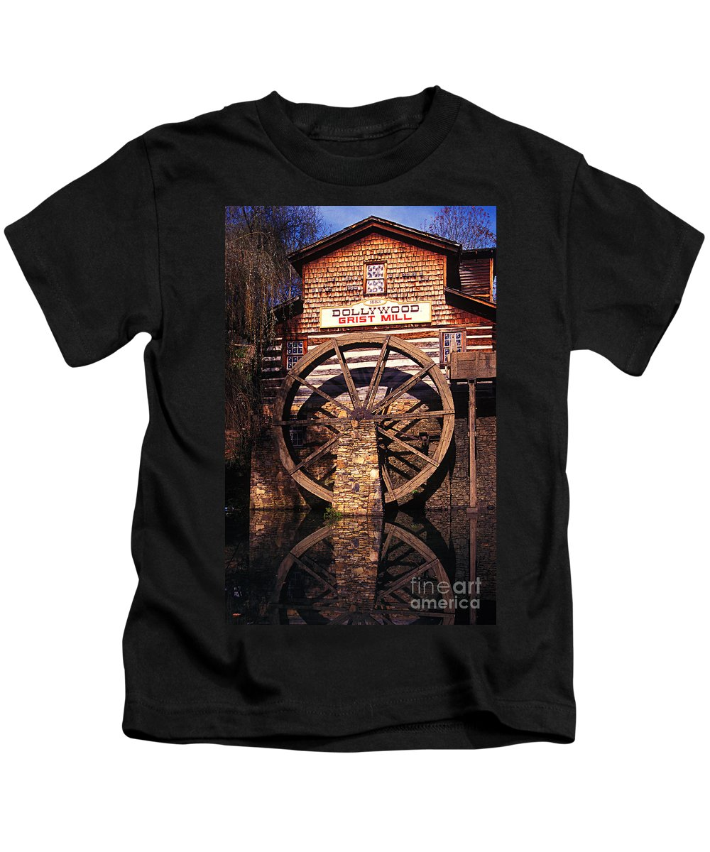 Grist Mill Kids T-Shirt featuring the photograph Grist Mill In The Smokies by Paul W Faust - Impressions of Light