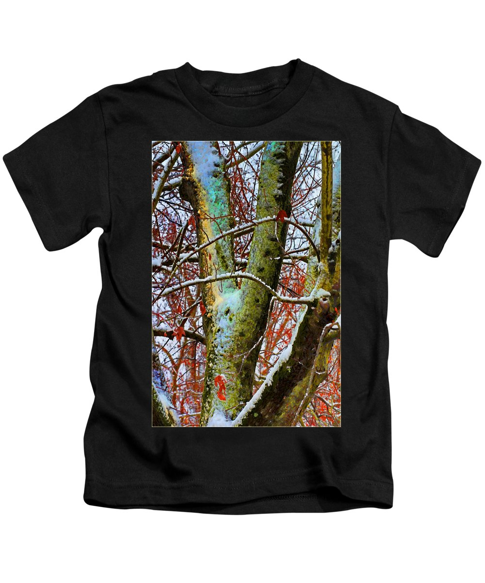 Nature Kids T-Shirt featuring the photograph Half Frozen IIi Photoart by Debbie Portwood