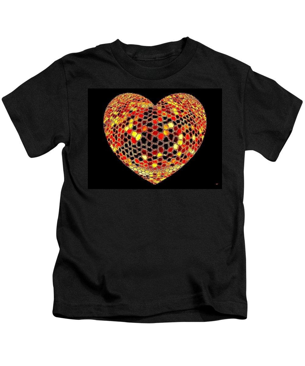 Heart Kids T-Shirt featuring the digital art Heartline 7 by Will Borden