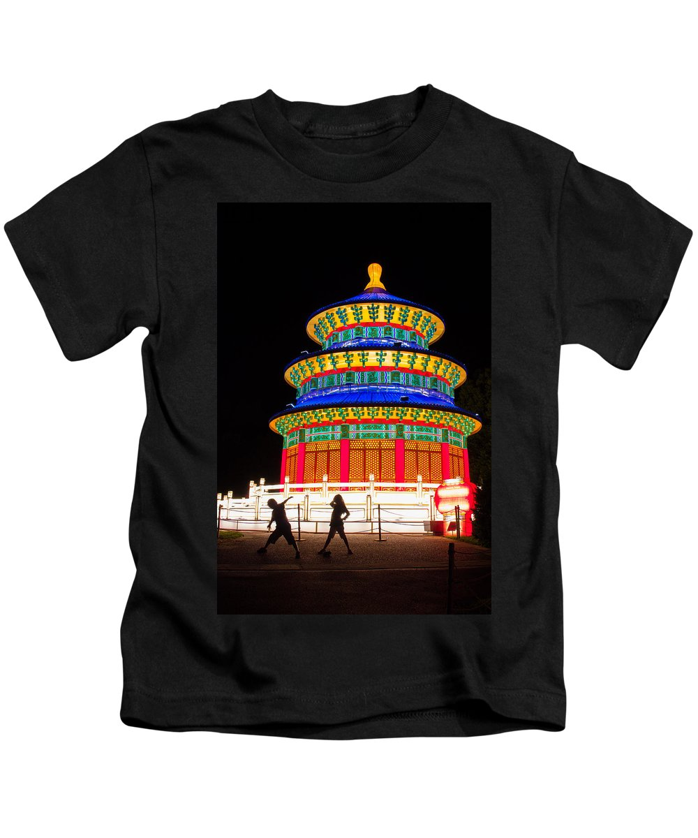 Art Kids T-Shirt featuring the photograph Heavenly Temple by Semmick Photo