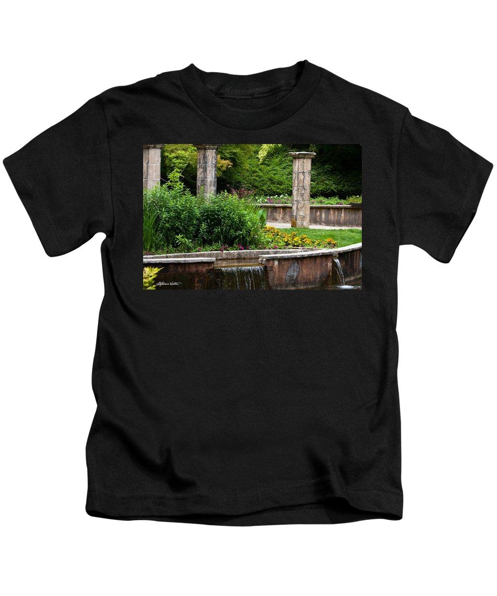 Landscape Kids T-Shirt featuring the photograph Hidden Garden by Stephanie Salter