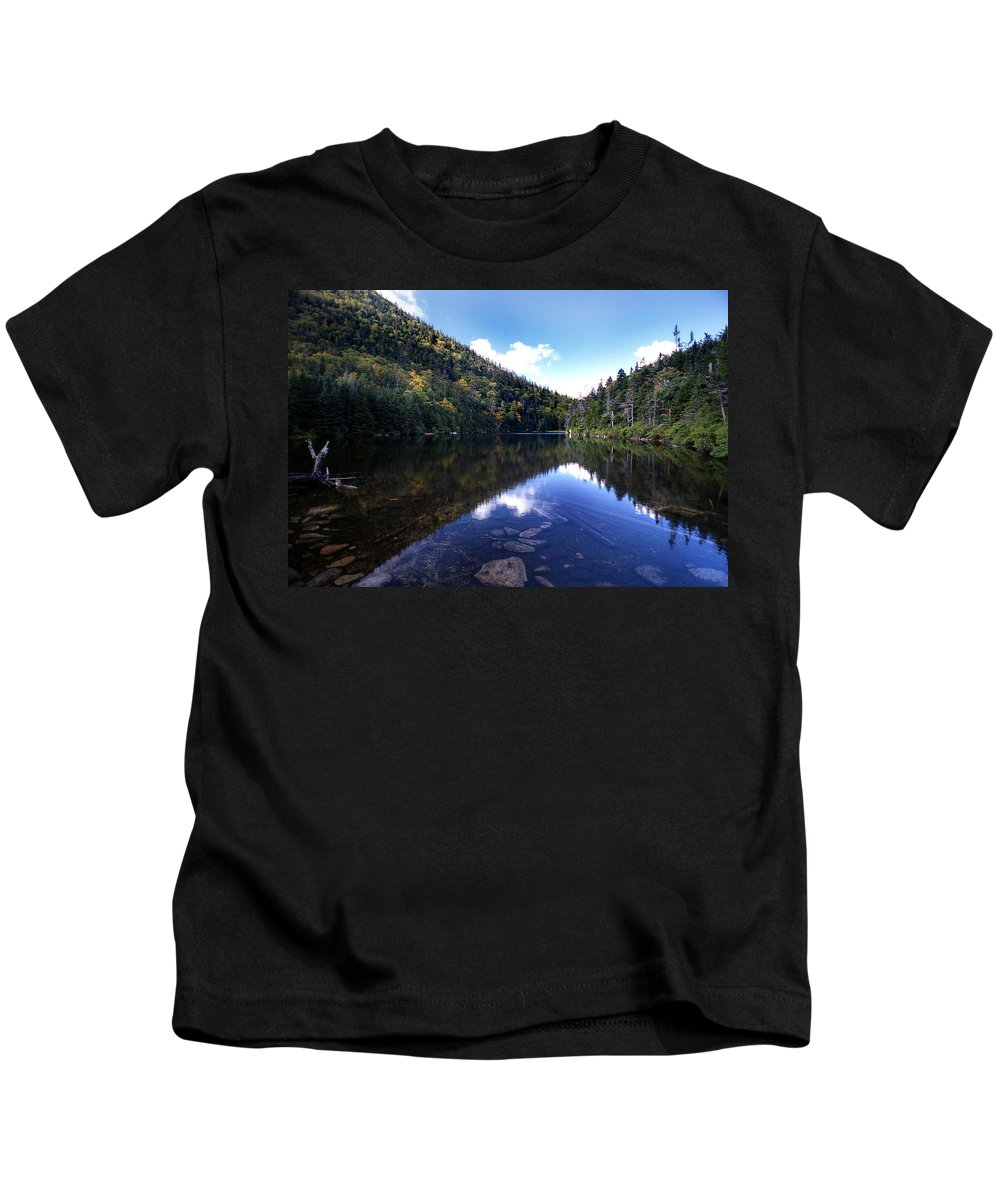 Pond Kids T-Shirt featuring the photograph Hidden Mountain Pond by Skip Willits
