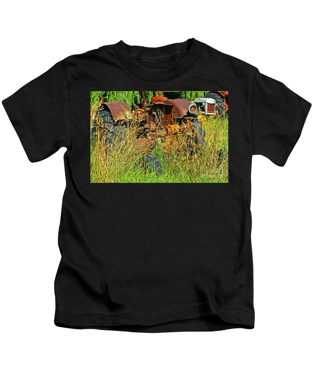 Tractors Kids T-Shirt featuring the photograph Hidden Tractor Parts by Randy Harris
