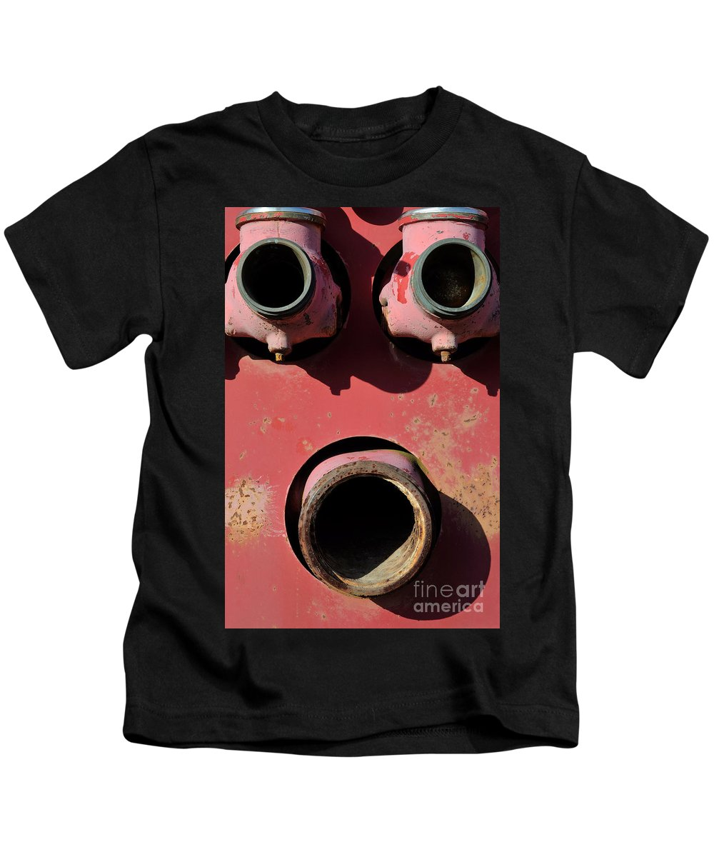 Rust Kids T-Shirt featuring the photograph Hollow Face by Luke Moore