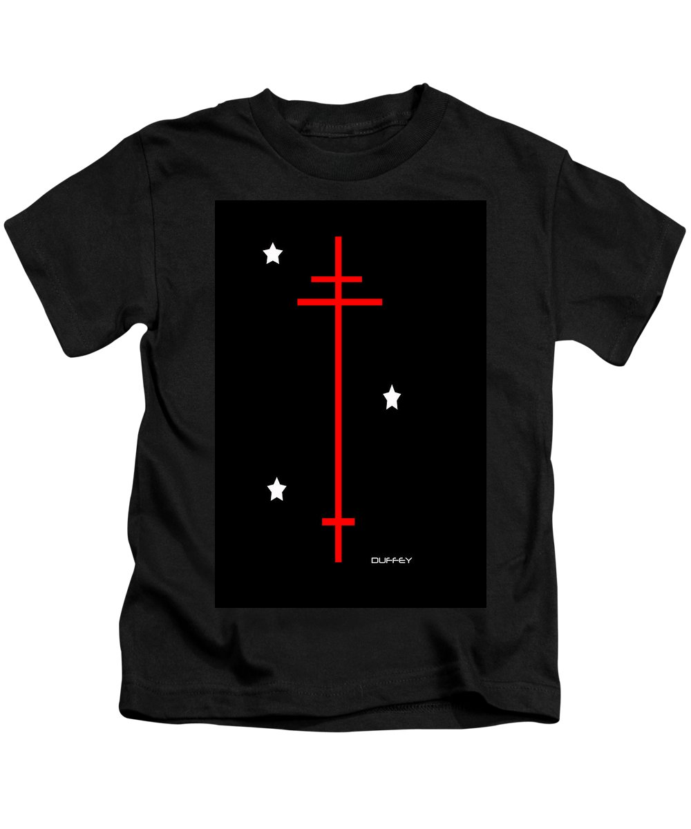 Post Constructivism/geometric Digital Drawings Kids T-Shirt featuring the photograph Holy Trinity by Doug Duffey
