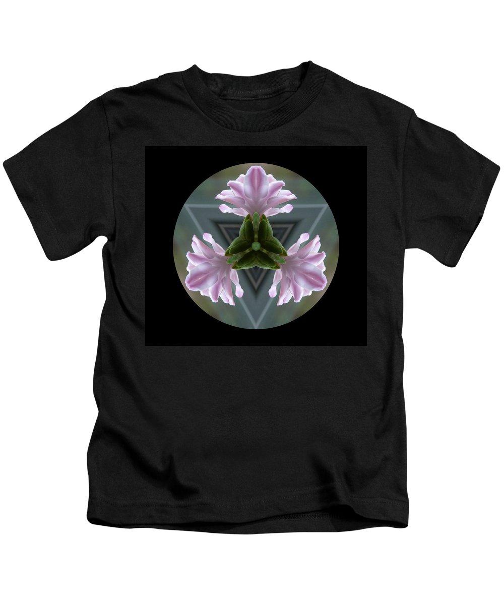 Hyacinth Kids T-Shirt featuring the photograph Hyacinth Kaleidoscope by Lynn Bolt