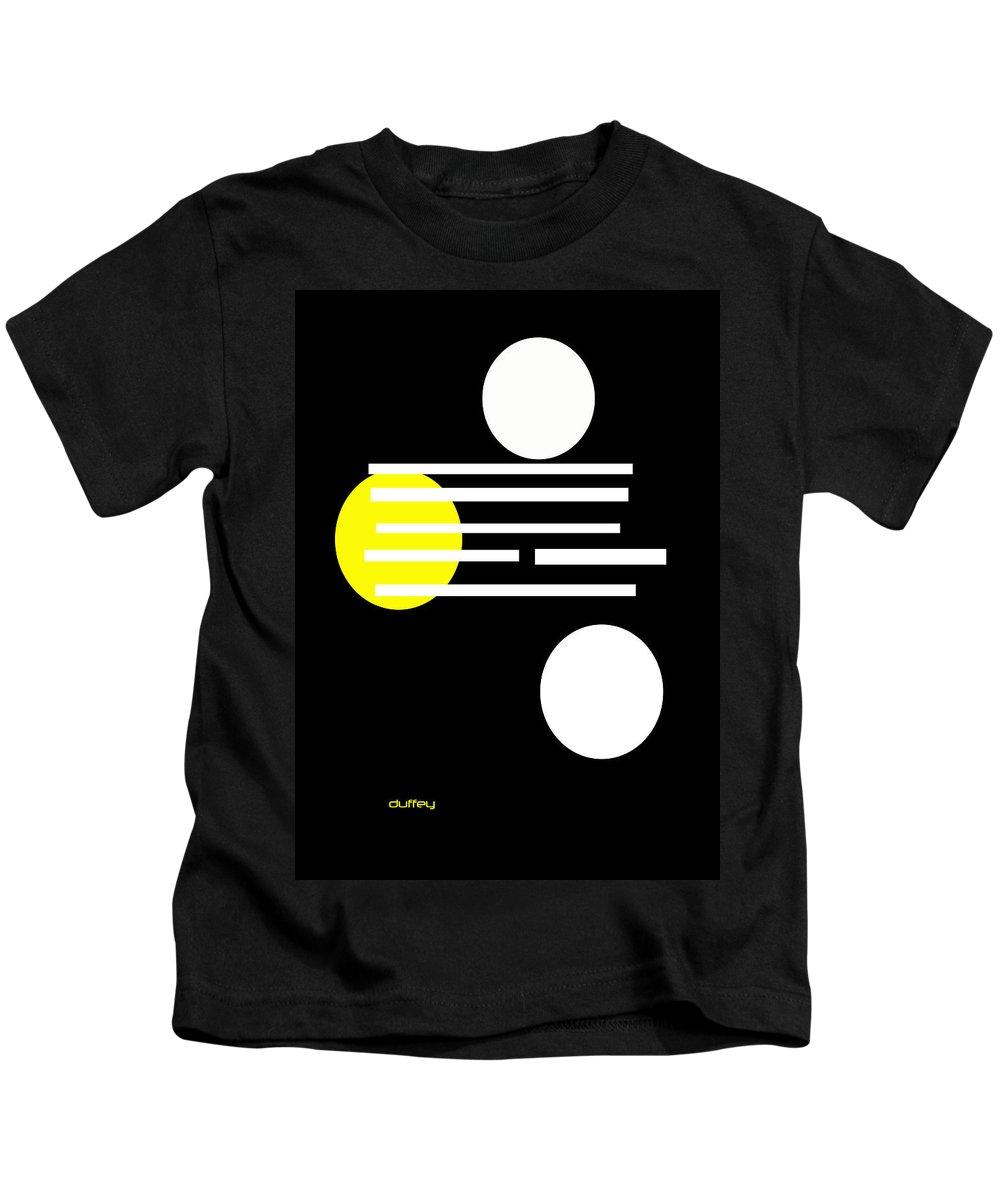 Post Constructivism/geometric Digital Drawings Kids T-Shirt featuring the photograph I Ching 1 by Doug Duffey