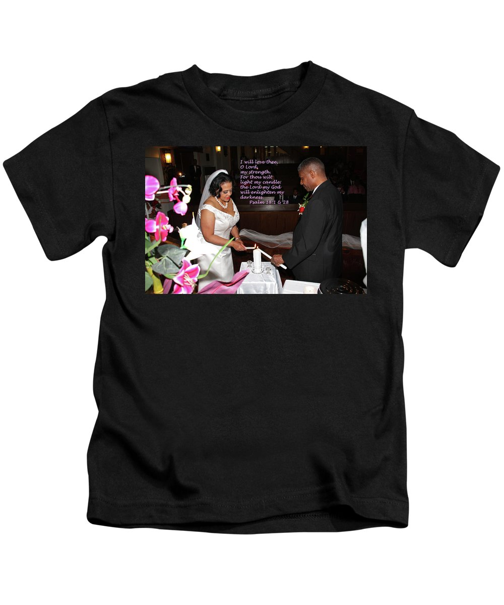 Wedding Kids T-Shirt featuring the photograph I Will Love Thee by Terry Wallace