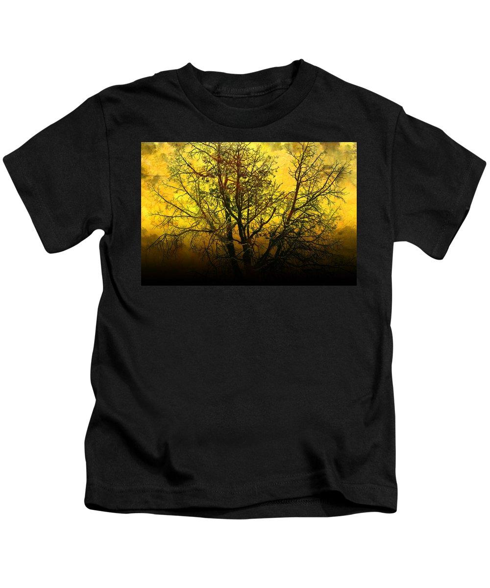 Abstract Kids T-Shirt featuring the photograph Illumination by Ellen Heaverlo