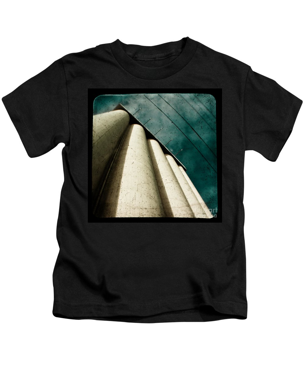 Industrial Kids T-Shirt featuring the photograph Impending Doom by Andrew Paranavitana