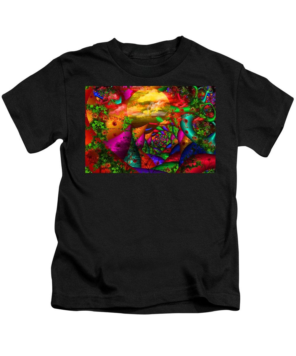 Swans Kids T-Shirt featuring the digital art In My Dreams by Robert Orinski