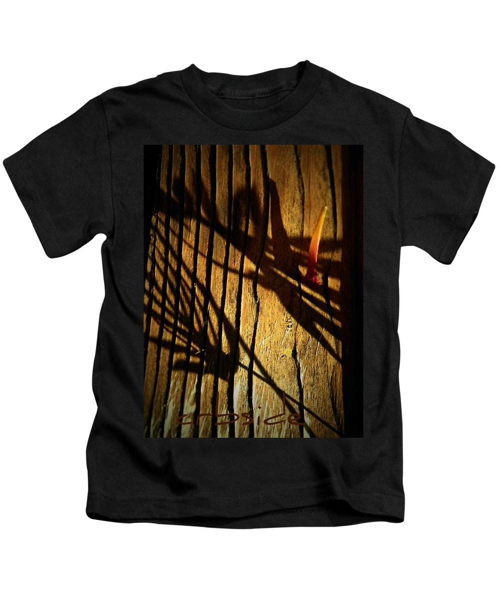 Shadows Kids T-Shirt featuring the photograph In Shadow by Chris Berry