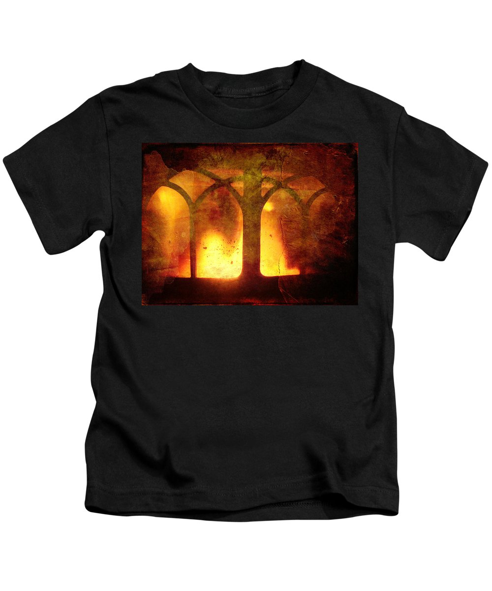 Fire Kids T-Shirt featuring the photograph Inferno by Mother Nature