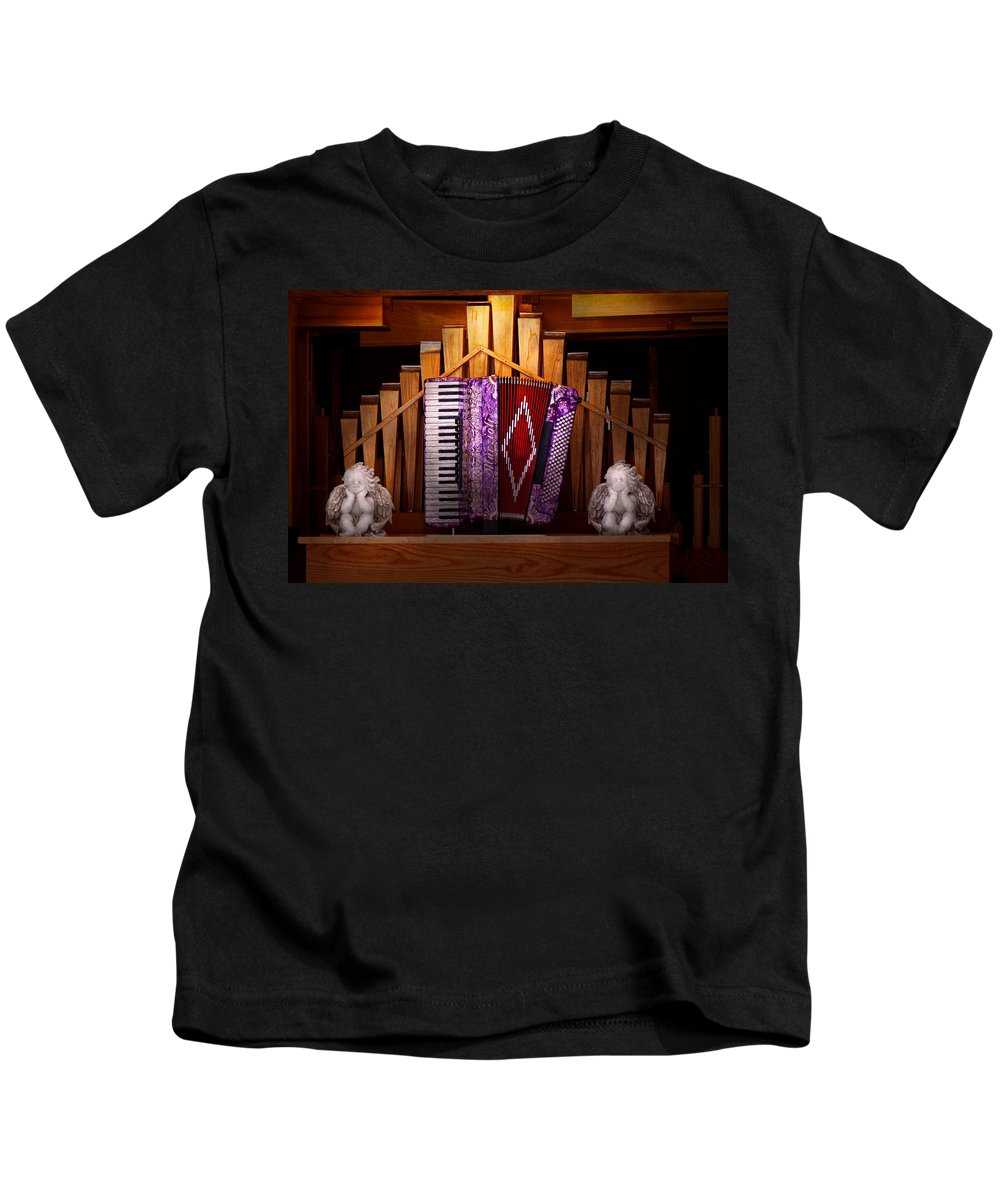 Organ Kids T-Shirt featuring the photograph Instrument - Accordian - The Accordian Organ by Mike Savad