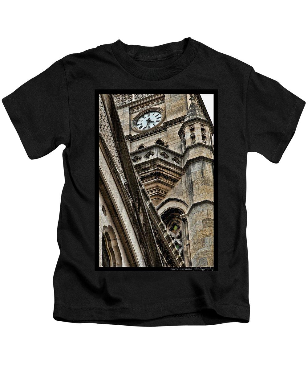 Clock Kids T-Shirt featuring the photograph Intersection by Sheri Bartoszek