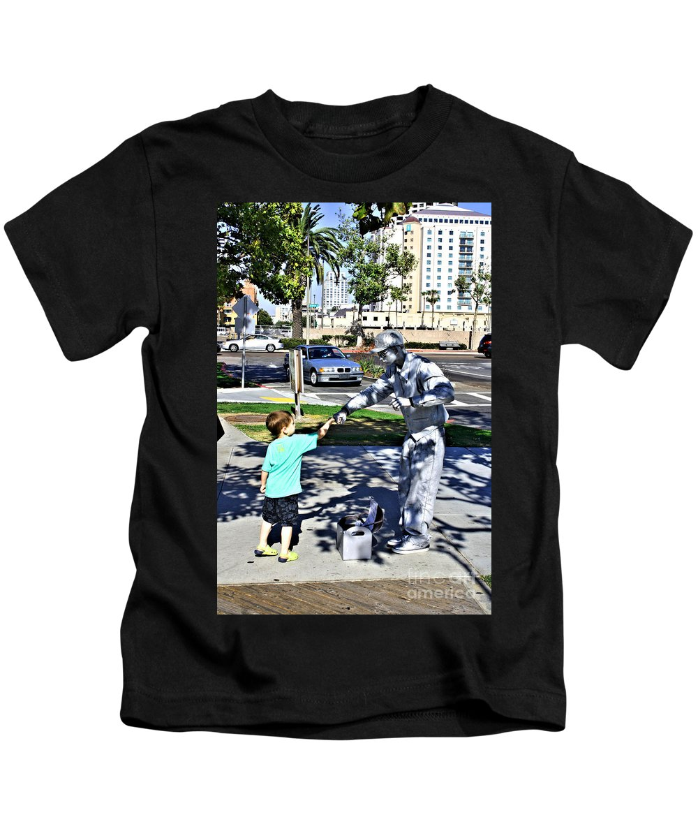 Child Kids T-Shirt featuring the photograph Intrigue by Tommy Anderson