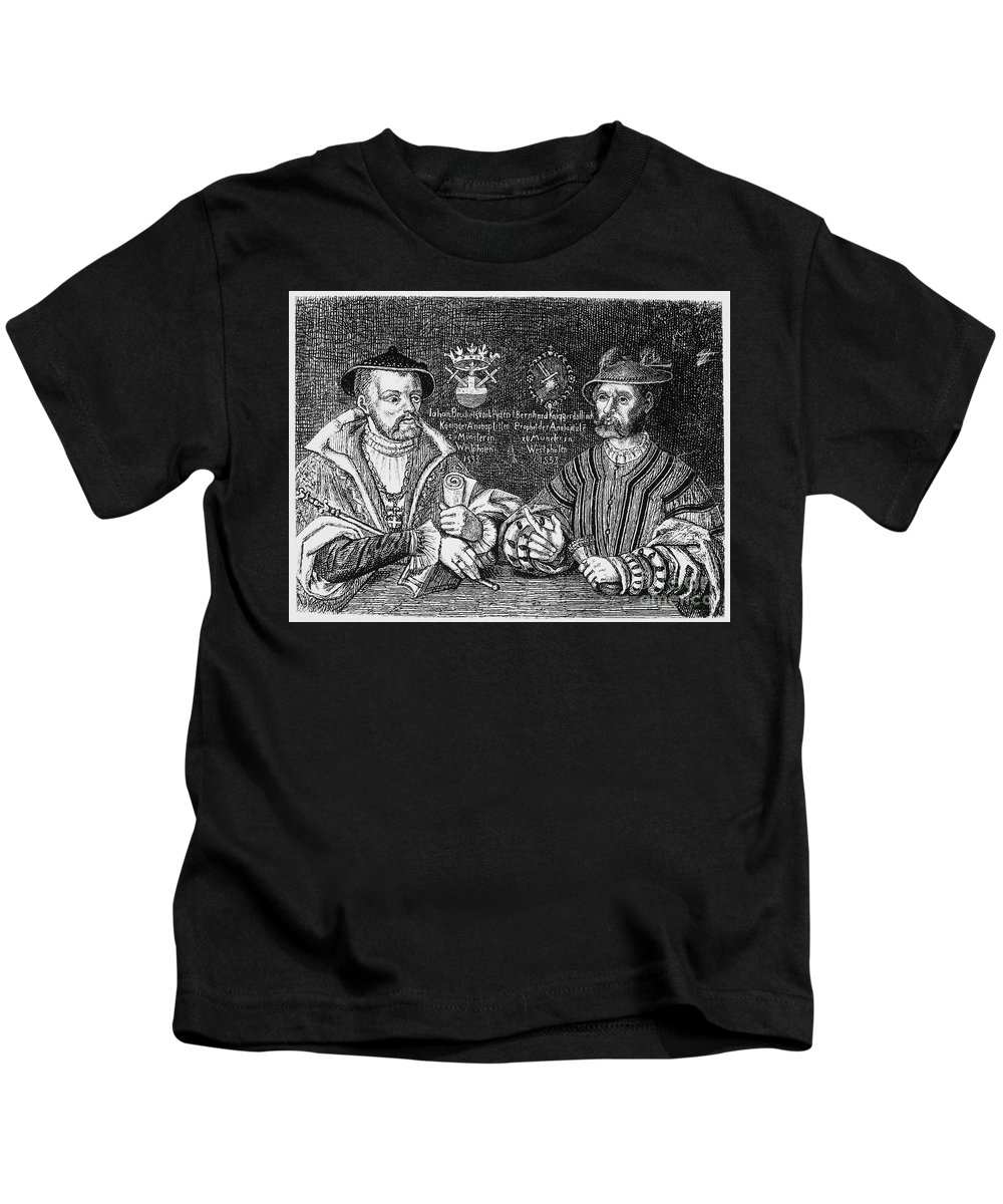 1533 Kids T-Shirt featuring the photograph John Of Leiden (1509-1536) by Granger
