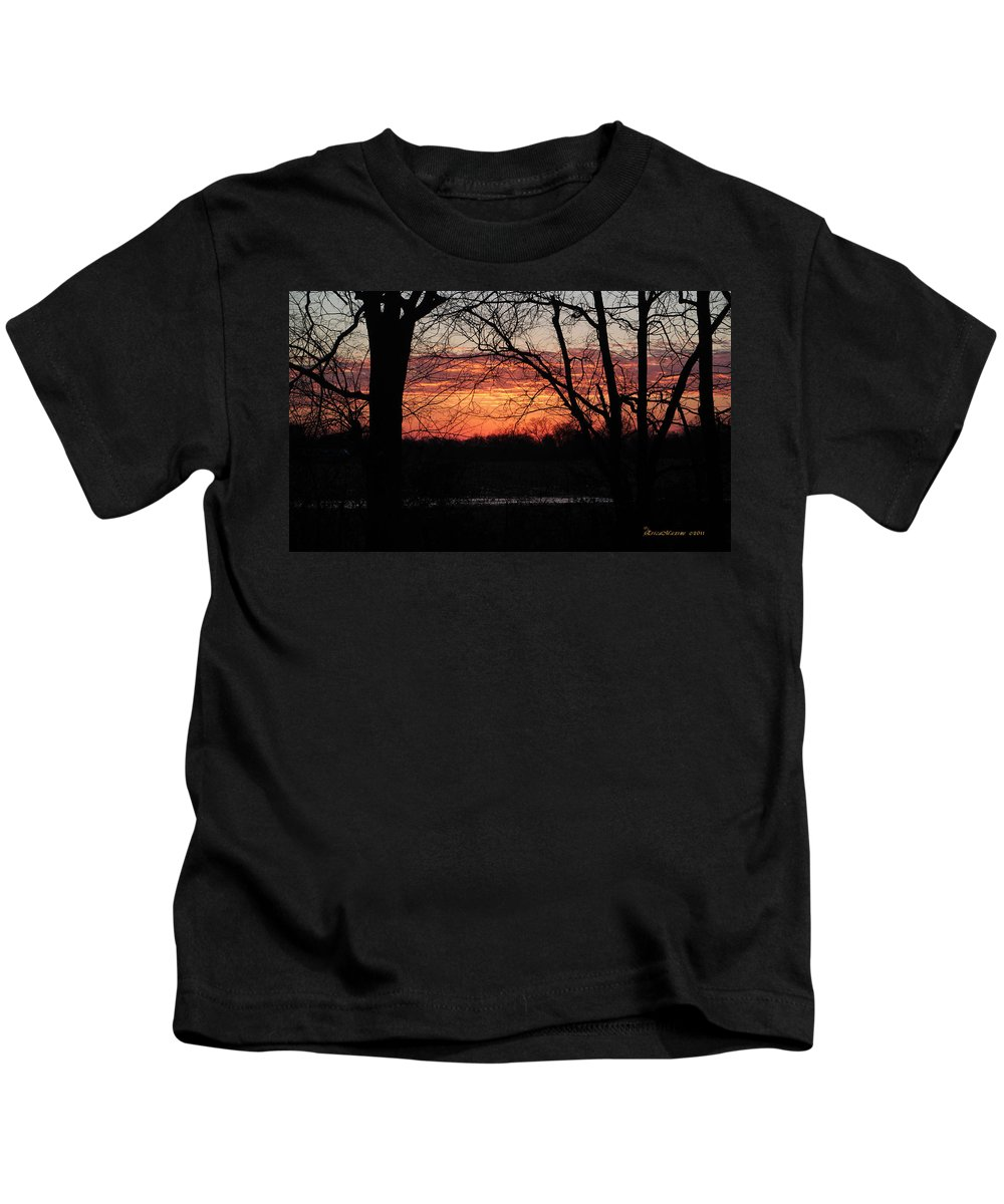 Erica Kids T-Shirt featuring the photograph Just A Little Bit Higher -- Sunrise by Ericamaxine Price