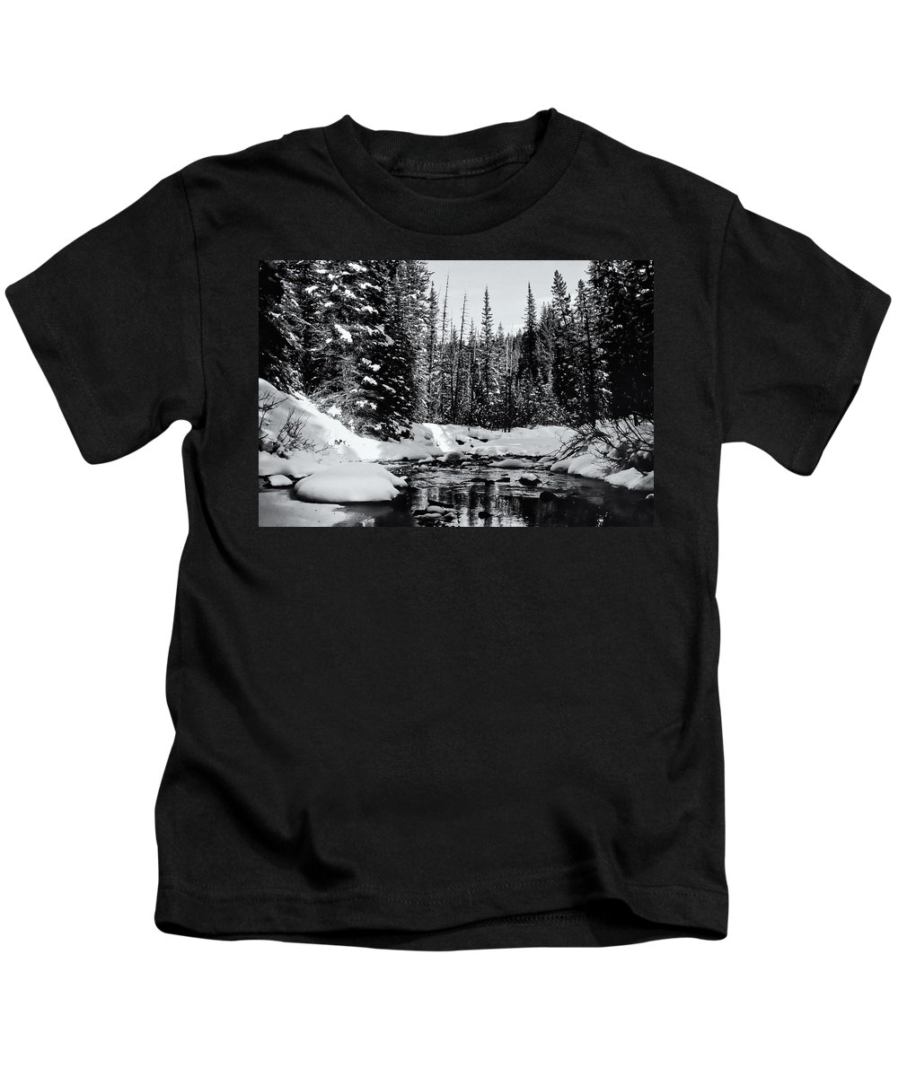 Alberta Kids T-Shirt featuring the photograph Kananaskis Creek by Roderick Bley