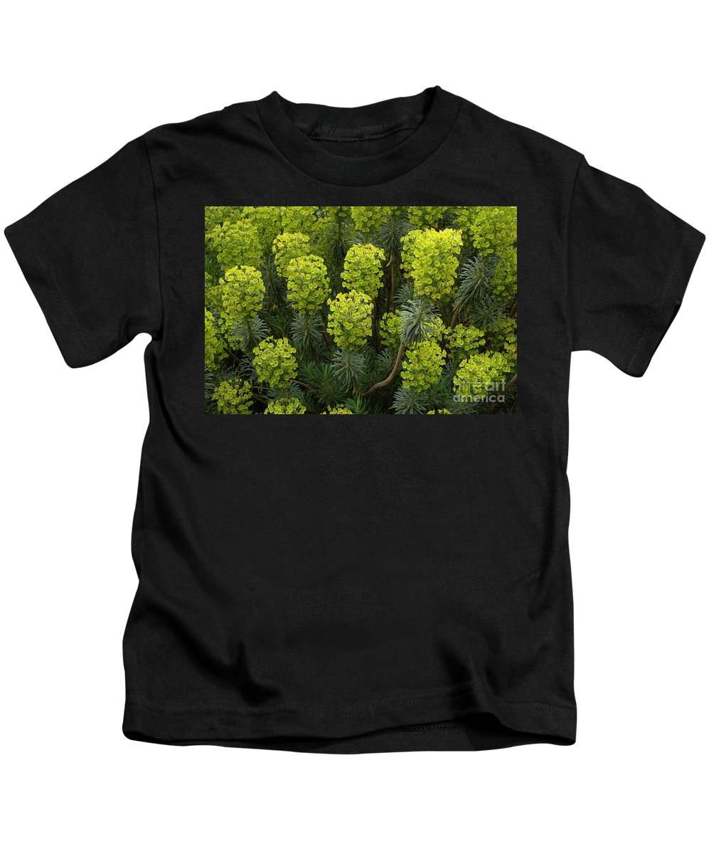 Kew Gardens Kids T-Shirt featuring the photograph Kew Gardens Green Plants by Mike Nellums