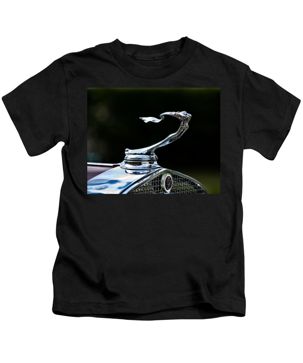 Automobile Kids T-Shirt featuring the photograph Lady Cadillac 1931 by Christopher Holmes