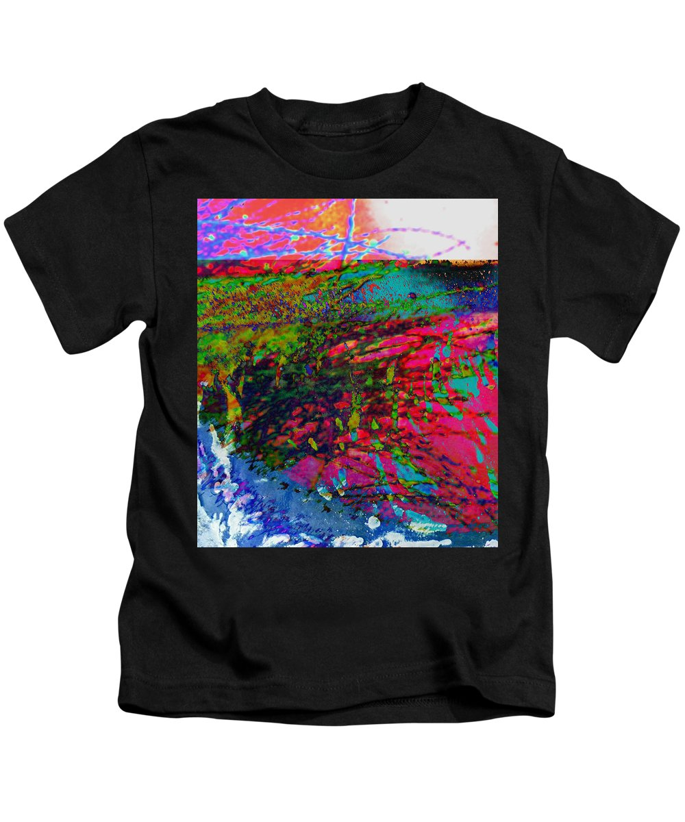 Abstract Kids T-Shirt featuring the photograph Landscape From Another World by Lenore Senior
