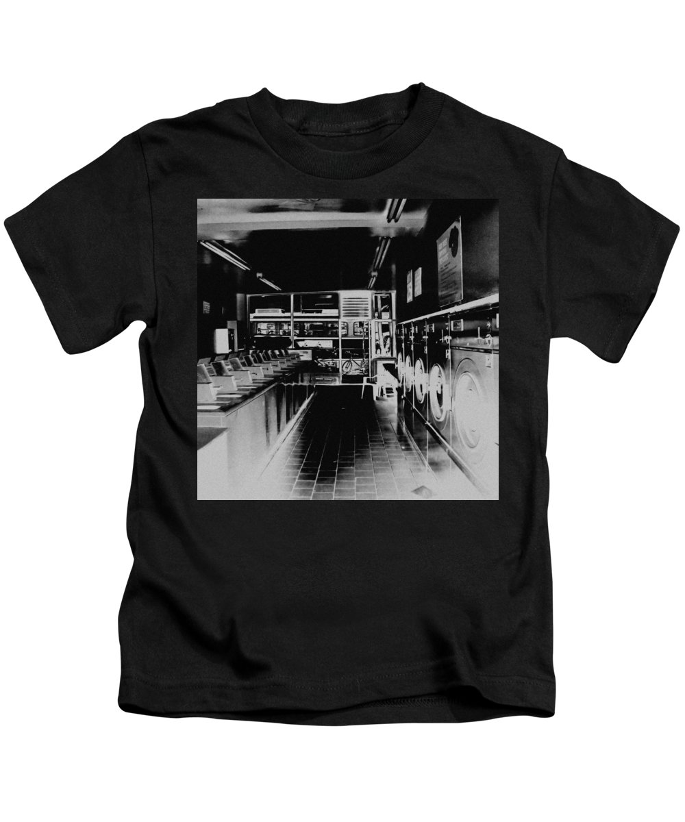 Laundry Kids T-Shirt featuring the photograph Laundromat by Andrew Fare