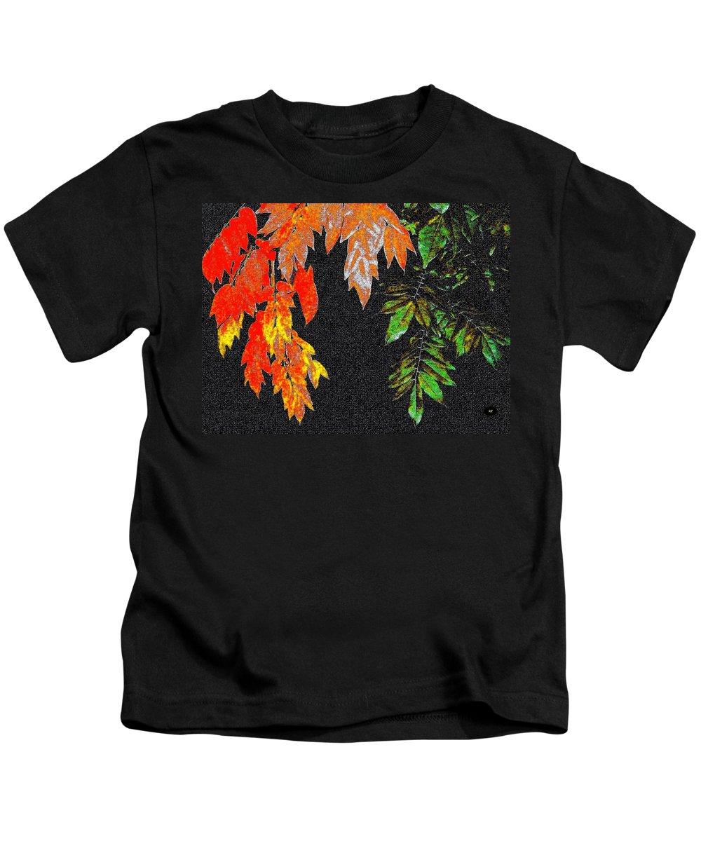 Lavish Leaves Kids T-Shirt featuring the digital art Lavish Leaves 5 by Will Borden