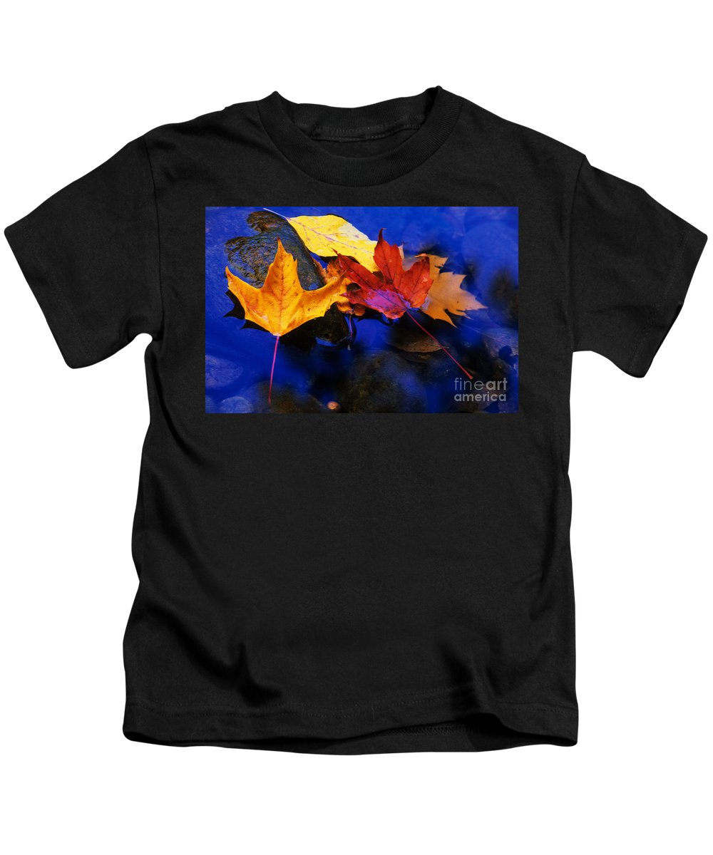 Leaves Kids T-Shirt featuring the photograph Leaves Of Autumn by Bob Christopher