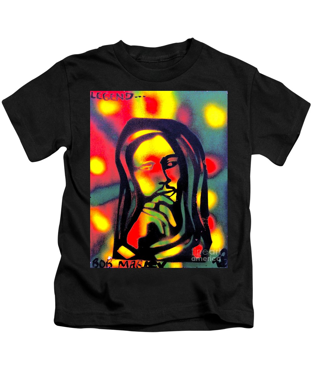 Hip Hop Kids T-Shirt featuring the painting Legend by Tony B Conscious