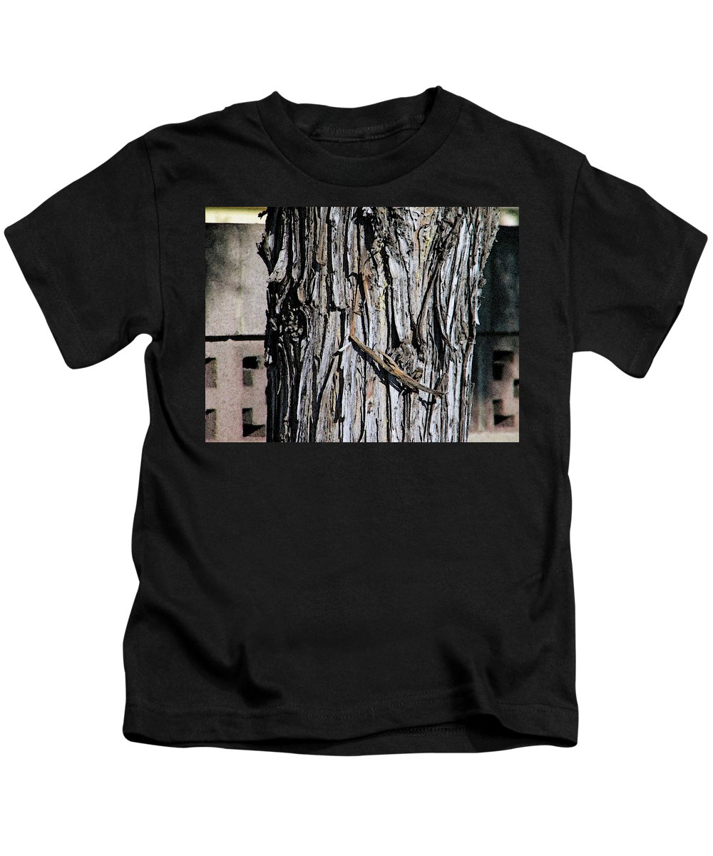 Abstract Kids T-Shirt featuring the photograph Life And Non-life by Lenore Senior